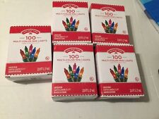 Holiday Time 100 Multi-Color Mini Lights Christmas Lot 5 Boxes