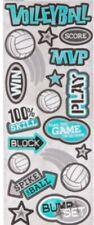 "Volleyball Scrapbook Cardstock Stickers 5"" x 12"""