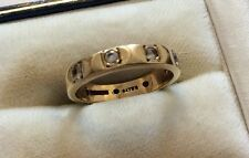 Lovely Ladies Stamped Early Vintage 9ct Gold White Quartz Full Eternity Ring