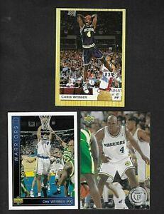 Lot of 3 1993 CHRIS WEBBER Rookie Cards: Classic #1, Upper Deck #311; #483