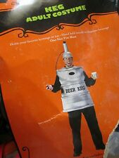 Adult BEER KEG Costume NEW Holds & Dispenses Beverage TUNIC HELMET NOZZLE