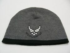 WORLDWIDE - US AIR FORCE LOGO - ONE SIZE STOCKING CAP BEANIE HAT!
