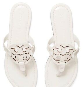 Tory Burch Sandals 7 Women Flip Flops Miller White