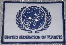 Star Trek TNG United Federation of Planets Blue on White Embroidered Patch