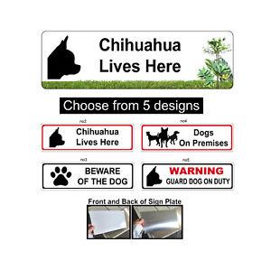 Chihuahua dog Sign Aluminium Gate Sign
