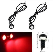 2x Red 18MM LED Eagle Eye Car Fog Light DRL Reverse Backup Turn Signal Lamp