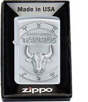 ZIPPO Taureau Taurus zodiaque Signe du AVEC OU SANS ENSEMBLE-CADEAU 2002073