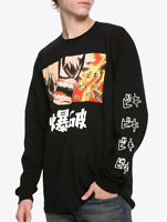 Anime My Hero Academia BAKUGO Long Sleeve T-Shirt NEW Authentic & Official