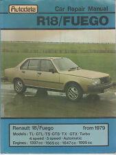 RENAULT FUEGO 1.4 1.6 2.0 COUPE & FUEGO 1.6 TURBO  1979 - 1985  WORKSHOP MANUAL