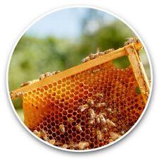 2 x Vinyl Stickers 30cm - Beekeeping Bee Raw Honey Bees  #44259
