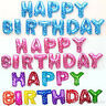 """HAPPY BIRTHDAY 16""""inch SELF INFLATING BALLOON BANNER BUNTING PARTY LARGE BALONS"""