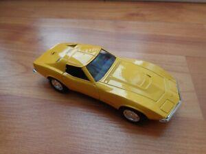 1/43 Corgi Solido Clásico Amarillo Chevrolet Corvette Coche de Metal