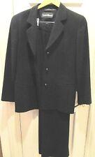 LOUIS FERAUD Designer Timeless Blazer & matching pants 100% Wool Black Sz 10