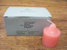 PartyLite Party Lite Pink Votive Candle Coral Hibiscus New in Box