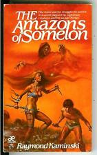 THE AMAZONS OF SOMOLON, rare US Leisure heroic fantasy gga pulp vintage pb