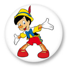 "Pin Button Badge Ø25mm 1"" Pinocchio Marionnette Bois Gepetto Walt Disney"
