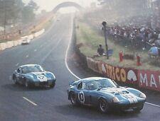 8 X 10 1965 Le Mans Cobra Daytonas Watercolor Print