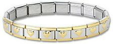 Wholesale Lot 12 Italian Charm Bracelets Heart 9 mm Stainless Steel Modular Link