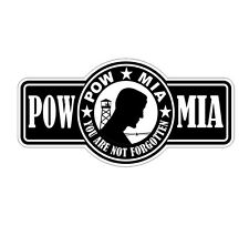 POW MIA Hard Hat Decal / Helmet Sticker / Vinyl Label Army Military USA Freedom