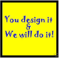 YOUR OWN DESIGN / FUN CAR / WINDOW INSIDE STICKER + 1 FREE - DECAL / NEW / GIFTS