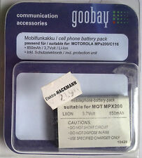 66251 MP MOT MPx200 SB Mobilfunkakku goobay für MOTOROLA MPX200/C116 850mAh 3,7V