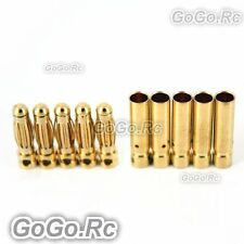 3 mm Gold Bullet Connector for Battery Motor Esc x 5 Pairs For Rc (BR511-512)