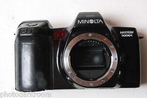 Minolta Maxxum 7000i 35mm Film SLR Camera Body 18331509 - UNTESTED - PARTS X03