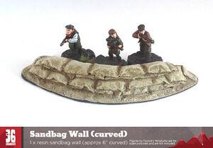 28mm scale Resin Sandbag Wall (curved)