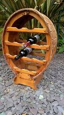 vintage free standing  wooden wine rack - holds 12 bottles