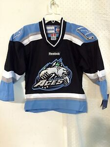 Reebok Youth ECHL Jersey ALASKA ACES Team Black sz S/M