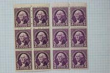 US Sc#720b 2 Color Variety violet purple Mint MNH Fine Corner Booklet Pane
