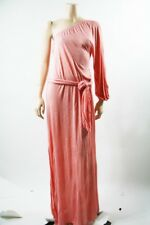 NWT INDAH ONE SHOULDER MAXI Guava Rayon Belted Dress