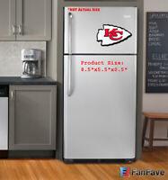 New NFL Kansas City Chiefs 3-D Foam Magnet Home Office Bar Decor - Made in USA