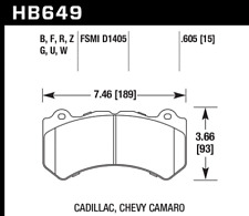 Hawk Disc Brake Pad Front for Cadillac, Chevrolet, Dodge, Jeep / HB649G.605
