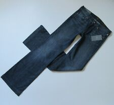 NWT 7 For All Mankind Slim Trouser in Dark New York Stretch Flare Jeans 27 x 36