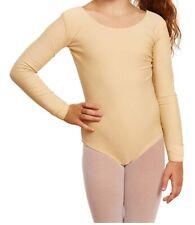 Leveret Girls Leotard Basic Long Sleeve Ballet Dance Leotard