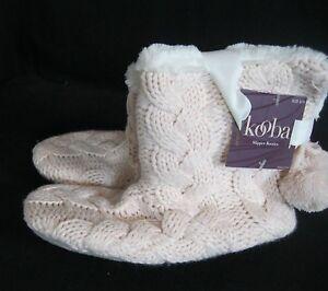 Women's Kooba Fleece Lined Faux Fur Cushioned Slippers Size S/M