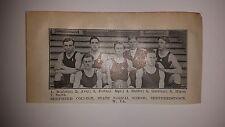 Shepherd College WV  & Covington Ohio Cubs 1911-12 Basketball Team Shepherdstown