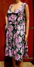 Joe Browns HX 518 Gorgeous Navy/Pink Peter Pan Collared Floral Dress Size 18 NEW