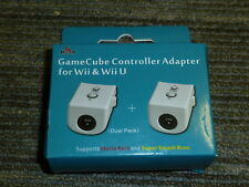 2 NINTENDO GAMECUBE CONTRÔLEUR pour Wii U Remote Adapter Brand New! Turbo Game Pad