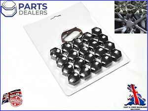 WHEEL NUT COVERS FOR JAGUAR S X TYPE XF XK XE XJ XK SMOKE CHROME BOLT CAPS 19mm