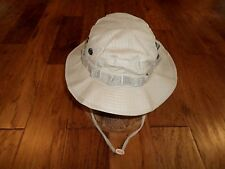 KHAKI BOONIE HAT COTTON RIP-STOP HOT WEATHER TYPE II SIZE 7 1/2