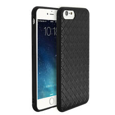 Apple iPhone 8/7/6S/6 Plus Braided Weave Case Slim Shockproof Shell Black