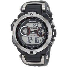 Armitron Men's Gray Resin Watch, 100 Meter WR, Chronograph, 40/8231RDGY