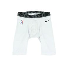 Nike Pro NBA Authentics Detroit Pistons Team Issued Spandex Shorts White 2XL T