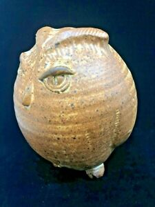 Vintage MCM Studio Pottery Owl Figure signed Bruce Eppelsheimer 2 of 2 available