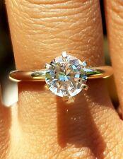 2ct Natural White Sapphire Solid 14K White Gold Engagement Ring Diamond Alternat