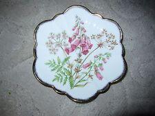 "Vintage Salisbury bone china ""Foxglove"" pink floral pattern tea saucer, England"