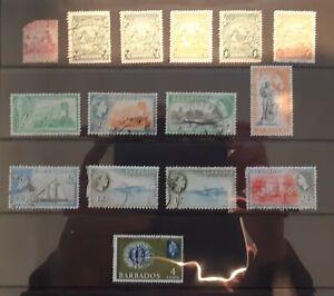 Barbados Postage Stamps selection