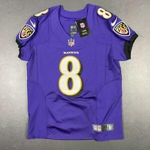 100% Authentic Lamar Jackson Ravens Nike Purple Vapor Elite Player Jersey 40 M